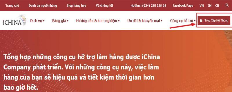 Đăng ký tài khoản trên hệ thống iChina để mua hàng